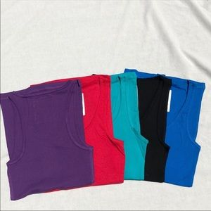 Racerback tank tops bundle of 5